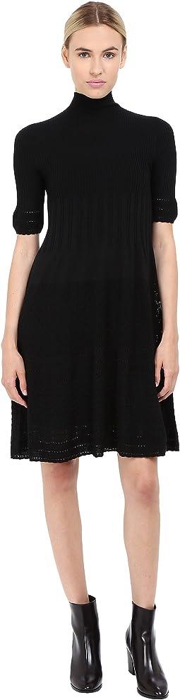 Mock Neck Short Sleeve Dress