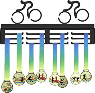 GENOVESE Cycling Medal Holder, Cyclists Medals Hanger,Sport Trophy Display Rack,Awards Holders for Bike Race