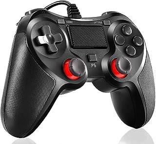 PS4 コントローラー有線 ps3/pc コントローラー 二重振動 人間工学 プレステ4 Pro/Slim PS3 Win7/8/10対応 日本取扱説明書付き