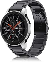 Fintie Armband kompatibel für Galaxy Watch 46mm / Gear S3 Frontier/Gear S3 Classic/Huawei Watch 2 Classic Smart Watch - 22mm Uhrenarmband Edelstahl Metall Ersatzband, Schwarz