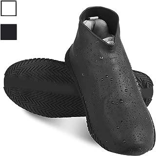 Silicone Waterproof Shoe Covers Reusable Rubber Rain Shoe Cover Elastic Anti Slip Overshoe for Men Women and Kids