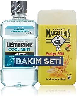 Le Petit Marseillais Duş Jeli Vanilya Sütü 250 ml+Listerine Cool Mint Hafif Tat 250 ml 1 Paket (1 x 500 ml)