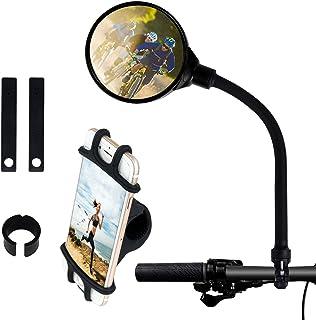 Bike Rear View Mirror Bike Mirror Bike Phone Mount Adjustable Universal Silicone Phone Stand Adjustable Shockproof