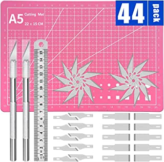 Precision Craft Knife Upgrade Exacto Knife Hobby Knife Exacto Knife Kit Pink Cutting Mat 40 Spare Exacto Knife Blades for ...