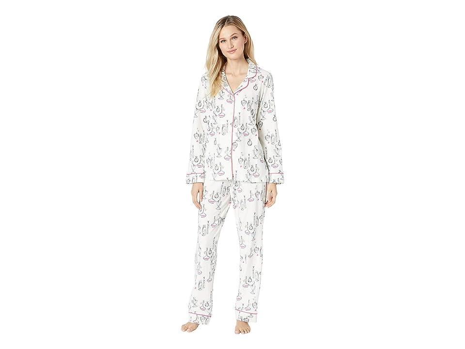 BedHead Pajamas Long Sleeve Classic Notch Collar Pajama Set (Love Potion) Women
