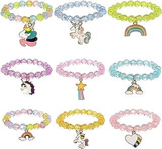 9 Pieces Colorful Unicorn Bracelet Girls Unicorn...