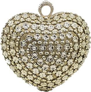 Finger Ring Women Clutch Heart Evening Bags Knuckle Box Metal Handbags Bridal Wedding Party Cocktail Flower Bag
