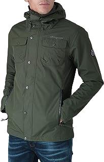 Crosshatch New Mens Hooded Jacket Waterproof Resistant Lined Zipped Coat