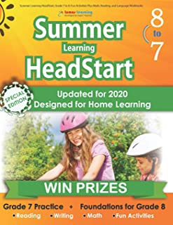 Summer Learning HeadStart, Grade 7 to 8: Fun Activities Plus Math, Reading, and Language Workbooks: Bridge to Success with...