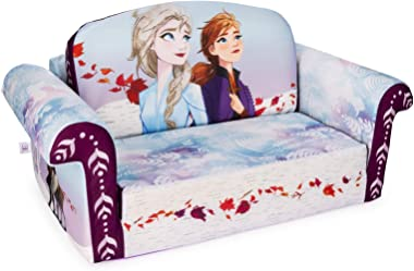 (GG) Furniture 2-in-1 Flip Open Couch Bed Furniture, Disney's Frozen 2