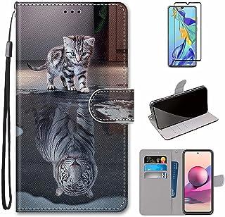 MUTOUREN Hoesje voor Xiaomi Redmi Note 10 Pro/Note 10 Pro Max con Schermbeschermer, PU Lederen Case Flip Wallet Cover Magn...