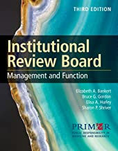 Institutional Review Board: Management and Function