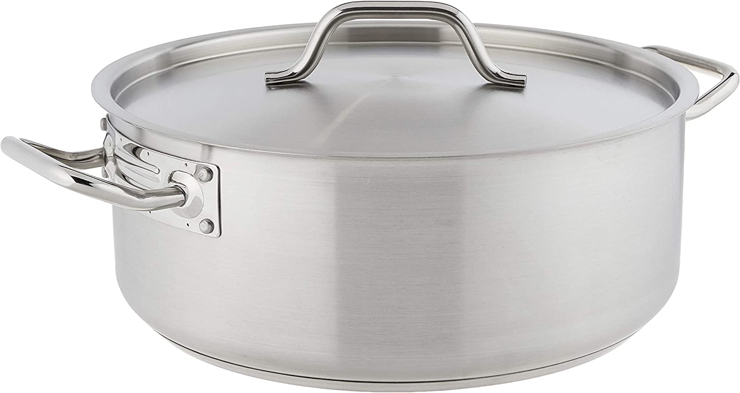 Winware Stainless Steel 15 Brasier Super sale period limited Quart with Baltimore Mall Cover