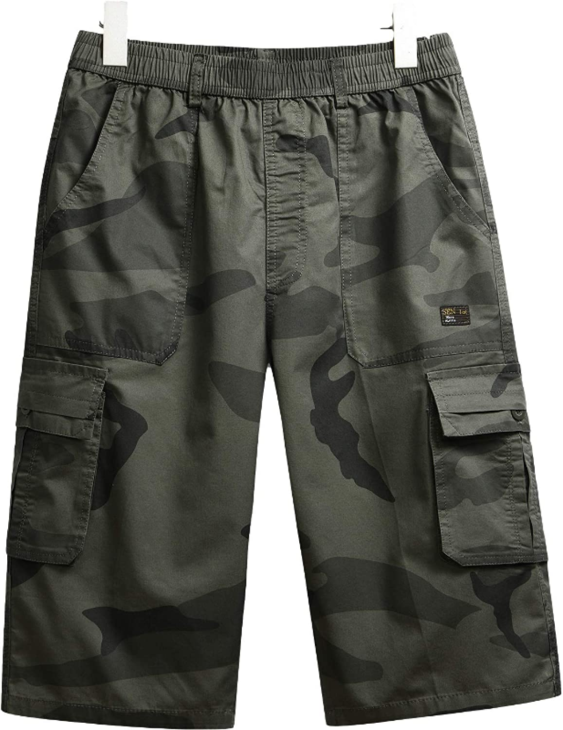Wantess Men's Camouflage Cargo Shorts Summer Loose Large Size Comfortable Breathable