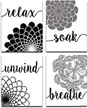 Bath Flowers - Set of Four Photos (8x10) Unframed - Makes a Great Gift Under $15 for Bathroom Decor