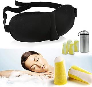MVOWIZON 耳栓 アイマスク 立体型 軽量 安眠 アイマスク 圧迫感なし究極の柔らかシルク質感 睡眠 旅行 仮 眠 眼精疲労 疲労回復に最適