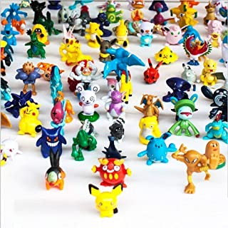 loantore 144 Pcs Anime Figure Heroes Action Figure Toy Set Mini Action Figures 2-3 cm Kid's Gift Children Game, Anime Figure, Mini Action Figures Set Pikachu Monster Toys