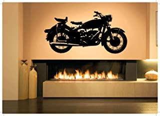Removable Vinyl Sticker Mural Decal Wall Decor Poster Art Quote Mancave Set Playroom Bedroom Bike Road Way Club Motorcycle Chopper Retro Vintage Ride Or Die Parts Biker SA586