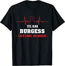 Team BURGESS lifetime member family youth shirt father's day
