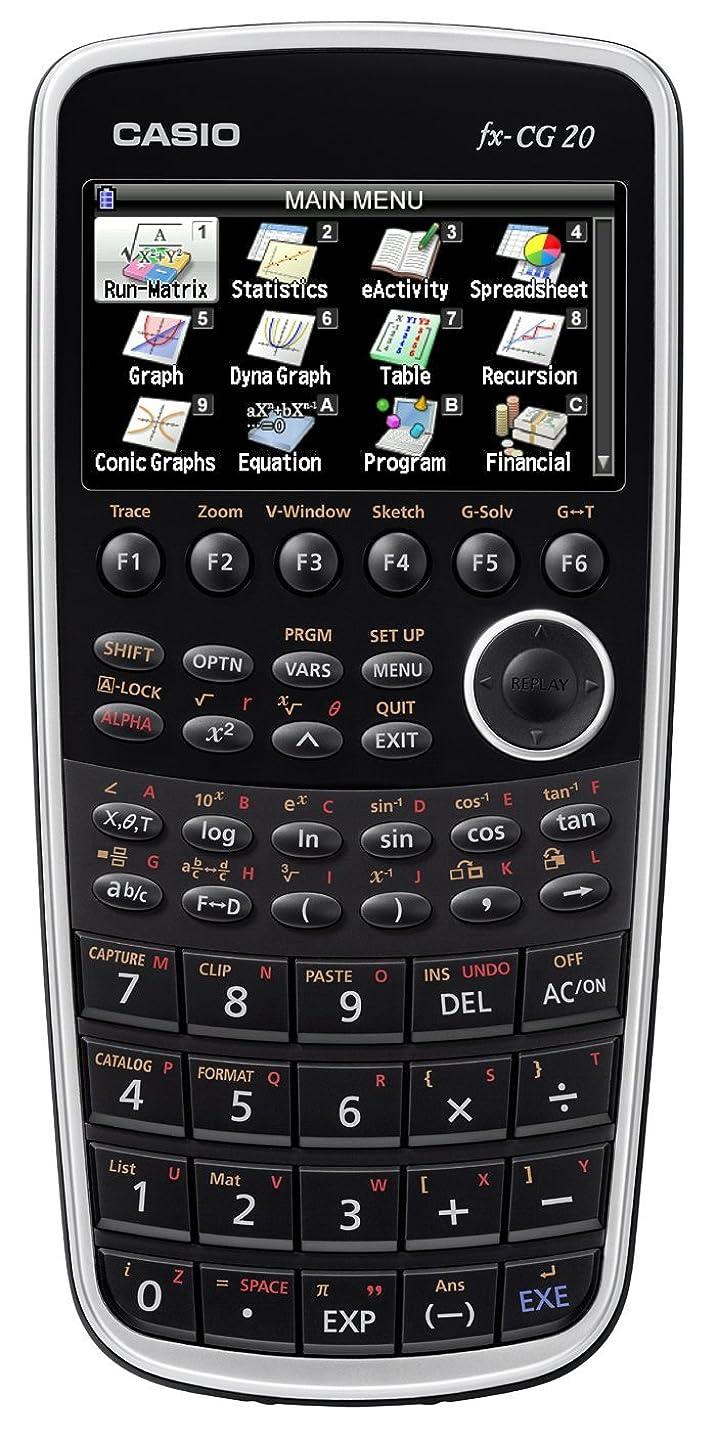 シティ明確に粘性のカシオ カラーグラフ関数電卓 10桁 ブラック FX-CG20-N