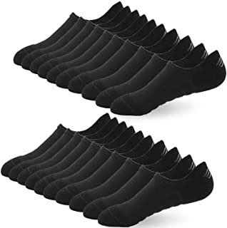 BUDERMMY 6 o 10 Paia di Calzini Fantasmini da Uomo, Sneaker Calze Donna Invisibili Antiscivolo in Cotone, Low Cut da Corsa...