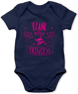 Shirtracer Sprüche Baby - Punk Rock Princess - Baby Body Kurzarm für Jungen und Mädchen
