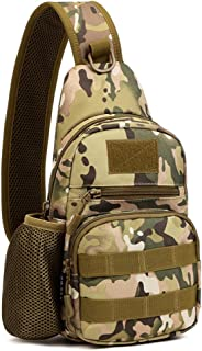 Tactical Sling Chest Pack Bag Molle Daypack iPad Mini Military Shoulder Bag Crossbody Duty Gear