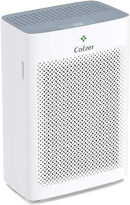 Colzer Purificador de aire con filtro de aire HEPA verdadero, limpiador de aire para el hogar, dormitorio, oficina, habitación grande, para espacios de hasta 700 m², con filtro compuesto