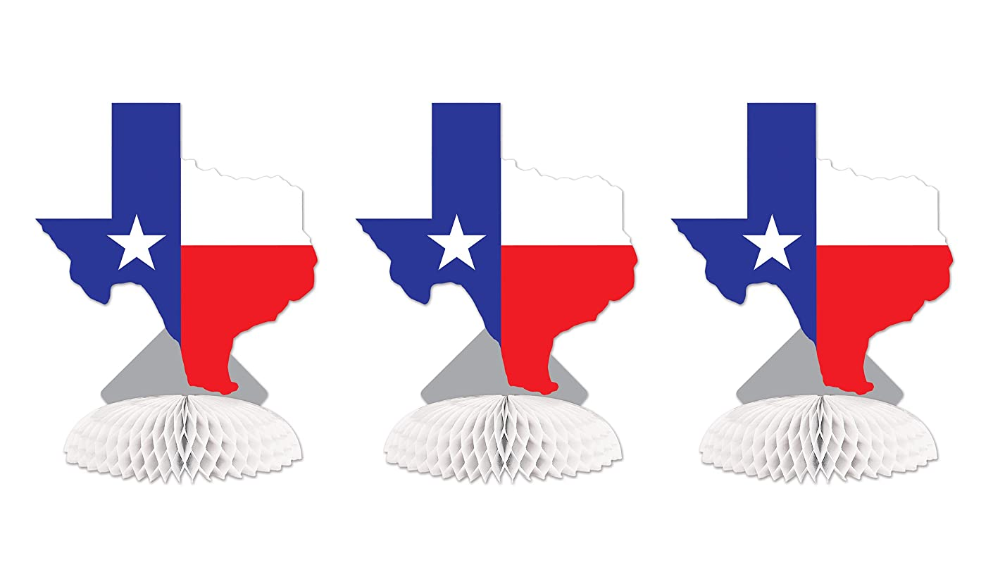 Beistle SS55894ITX 3Piece Texas Centerpieces, 8.25