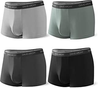 Men's Underwear Ultra Soft Comfy Breathable Bamboo Rayon Trunks in 3/4/7 Pack