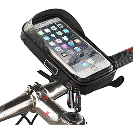 Bicycle Handlebar Mobile Phone Bag 2 in 1 Shoulder Bag Waterproof Silver New