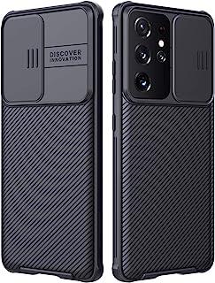 S21 Ultra Case, Nillkin Samsung Galaxy S21 Ultra Camera Protection Case | Slide Camera Cover | Slim Stylish | Anti Slip | ...