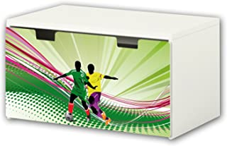 comprar comparacion Fútbol pegatinas | pegatinas para muebles | BT05 | adecuado para el arcón de banco STUVA de IKEA para niños (90 x 50 cm) |...