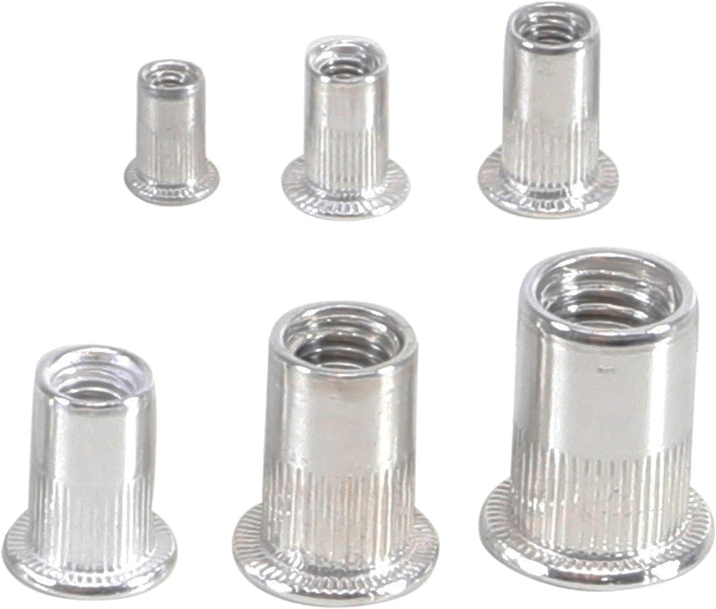 166-tlg Stahl Nietmutter-Sortiment Box Blindnietmuttern Satz Einnietmuttern Set