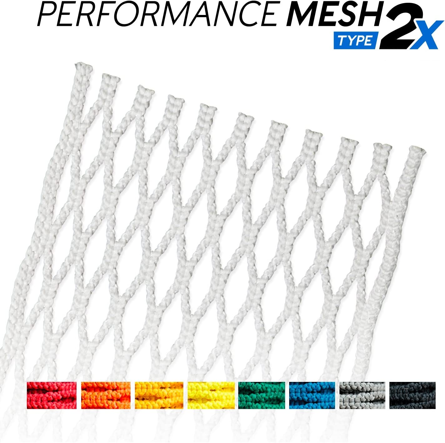 Assorted Colors StringKing Type 2s Semi-Soft Lacrosse Mesh Kit with Mesh and Strings
