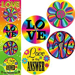 "Licenses Products Love Assorted Artworks 1.25"" Button Set, 4-Piece"