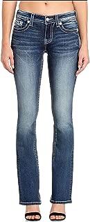 Miss Me Socialite Border Stitch Bootcut Jeans