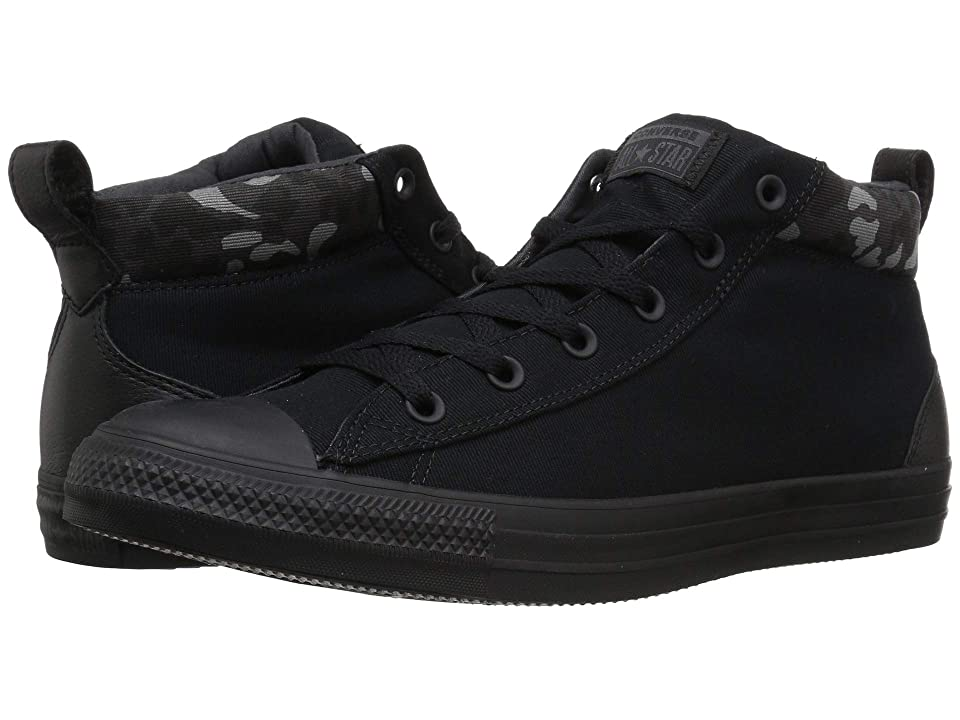 Converse Chuck Taylor All Star Combat Zone Street Mid (Black/Almost Black/Black) Shoes