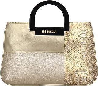 ESBEDA Gold Color Medium Size Cuero Armbag For Women