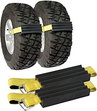 TRACGRABBER Tire Traction Device for Snow, Mud and Sand – for Trucks and Large SUVs, Set of 2 – Easy to Install, Get Unstuck Fast – A Snow Traction Mat or Snow Chain Alternative: image
