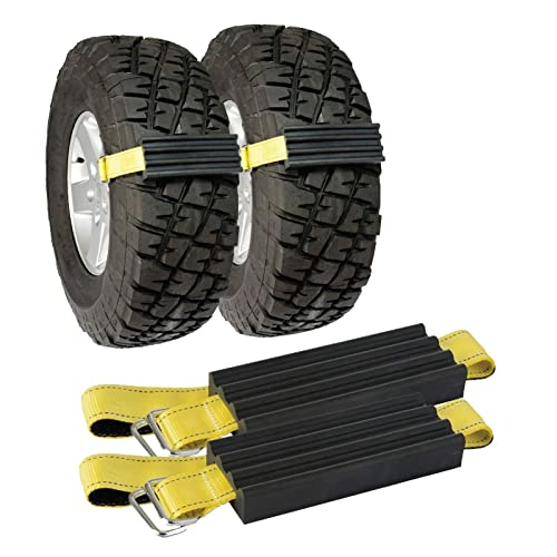 2 Piece Stalwart 82-YJ498 Car Tire Snow Grabber Mat