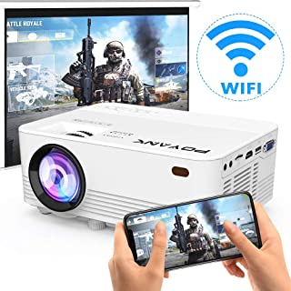 [2020 Upgrade WiFi Projector] POYANK 4500Lux LED WiFi Projector, Full HD 1080P Supported..