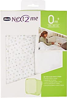 Chicco Next2me, Next2me Dream Crib Fitted Sheets - 2 Pack Light Grey