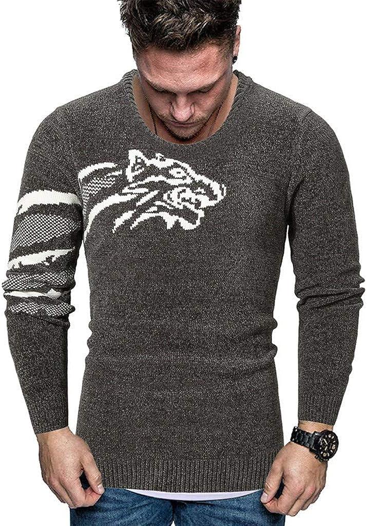 MODOQO Men's Pullover Sweater Warm Soft Winter Knitwear Long Sleeve O-Neck Outwear