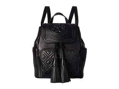 Tory Burch Fleming Mini Backpack (Black) Backpack Bags