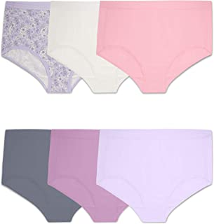 Fruit of the Loom Plus Size Fit for Me Women's Microfiber Briefs, 6 Pack