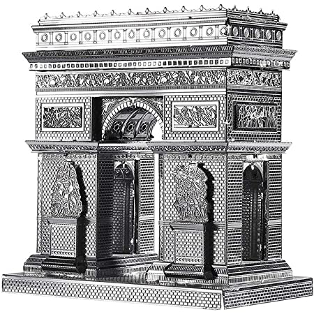 Piececool 3D Metal Model Kit for Adults -Arc De Triomphe Architecture DIY 3D Metal Jigsaw Puzzle for Adults