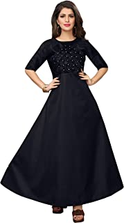 Ethnicset Women's Semi Stitched Gown for Girl Women