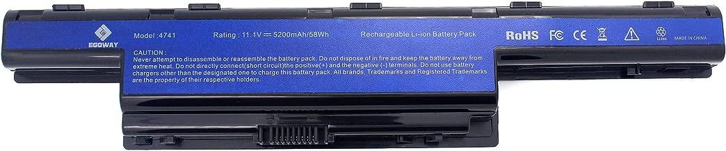 Egoway 5200mAh Laptop Battery for Acer AS10D AS10D31 AS10D41 AS10D51, Aspire 4741 5733Z 5742 5750 7560 7741Z 7750G, TravelMate 5735 5740, Gateway NV55C NV53A NV59C