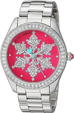 BJ00048-287 - Snowflake Motif Pink Dial Watch